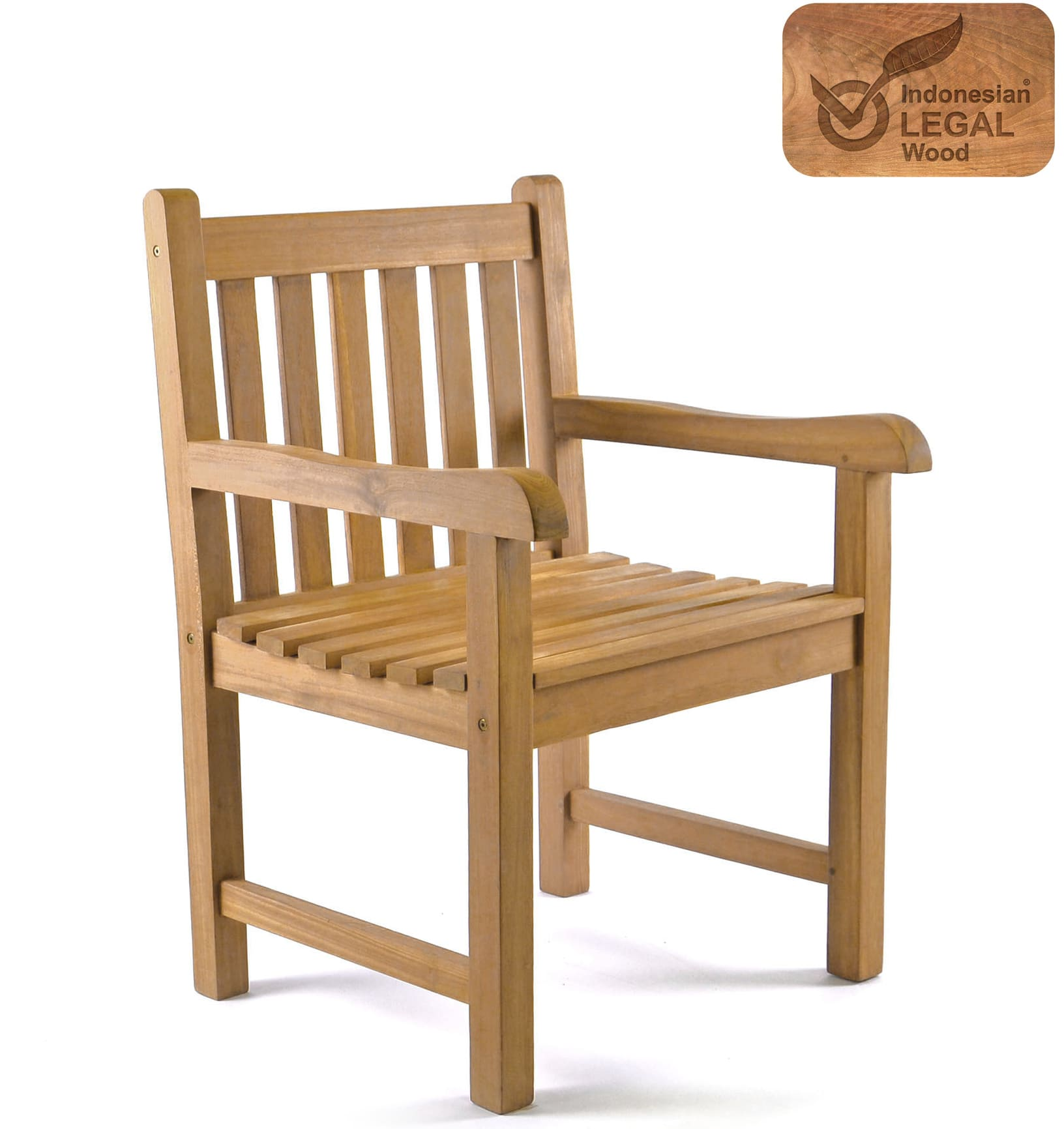 Golden Teak Wood Arm Chair Newbuy